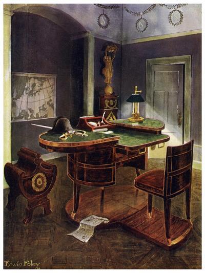 Campaign Desk of Napoleon I, Chateau De La Malmaison, France, 1911-1912-Edwin Foley-Giclee Print