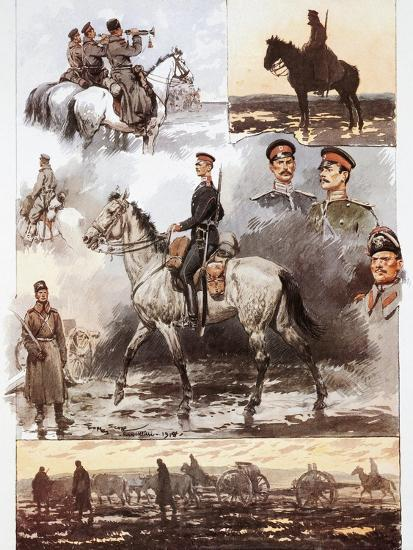 Campaign in Thrace, Bulgarian Army, Cavalry and Artillery, March 1913, First Balkan War--Giclee Print