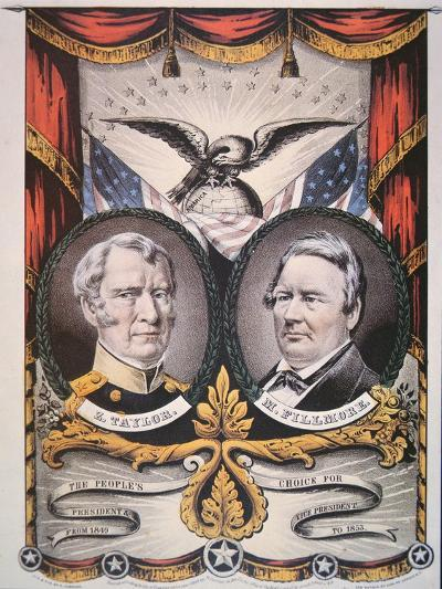 Campaign Poster for Presidential Candidate Zachary Taylor--Giclee Print