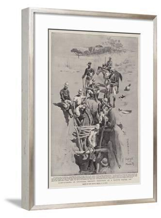 Campaigning in Rhodesia, Thirsty Troopers at a Native Water Pit-Charles Edwin Fripp-Framed Giclee Print