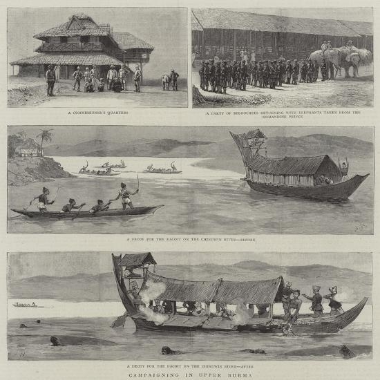 Campaigning in Upper Burma-Joseph Nash-Giclee Print