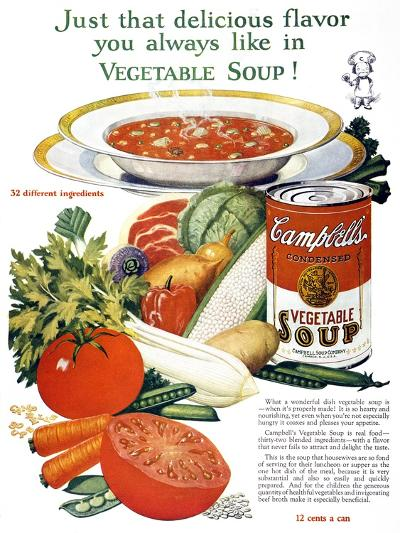 Campbell's Soup Ad, 1926--Giclee Print