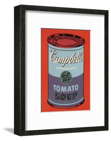 Campbell's Soup Can, 1965 (Blue and Purple)-Andy Warhol-Framed Art Print