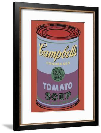 Campbell's Soup Can, 1965 (Blue and Purple)-Andy Warhol-Framed Giclee Print