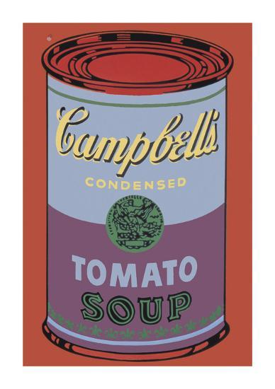 Campbell's Soup Can, 1965 (Blue and Purple)-Andy Warhol-Giclee Print