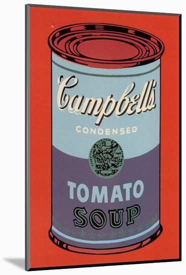 Campbell's Soup Can, 1965 (Blue and Purple)-Andy Warhol-Mounted Print