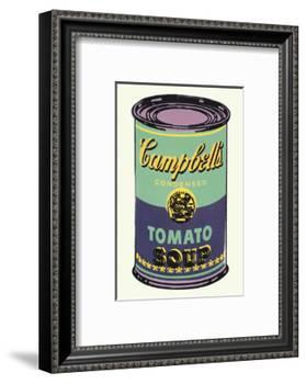 Campbell's Soup Can, 1965 (Green and Purple)-Andy Warhol-Framed Art Print