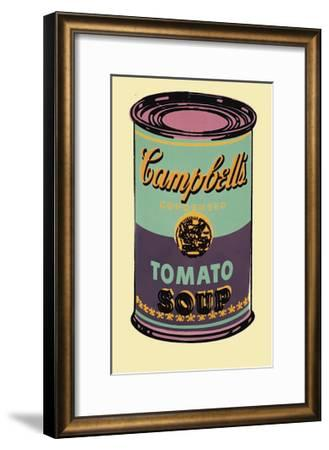 Campbell's Soup Can, 1965 (Green and Purple)-Andy Warhol-Framed Giclee Print