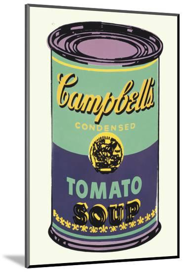 Campbell's Soup Can, 1965 (Green and Purple)-Andy Warhol-Mounted Print