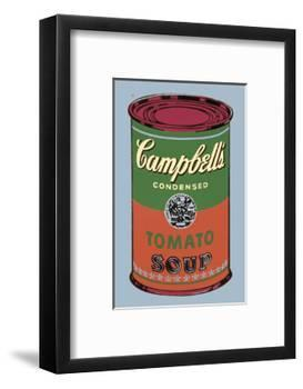 Campbell's Soup Can, 1965 (Green and Red)-Andy Warhol-Framed Art Print