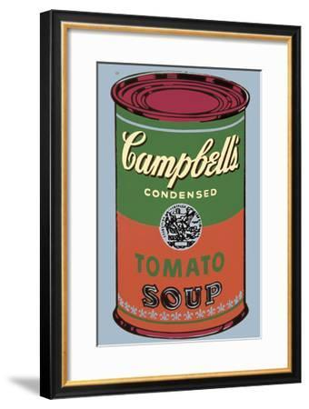 Campbell's Soup Can, 1965 (Green and Red)-Andy Warhol-Framed Giclee Print