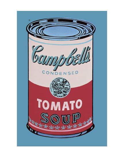 Campbell's Soup Can, 1965 (Pink and Red)-Andy Warhol-Art Print