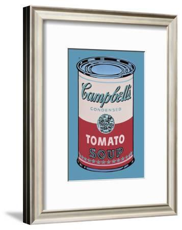 Campbell's Soup Can, 1965 (Pink and Red)-Andy Warhol-Framed Art Print