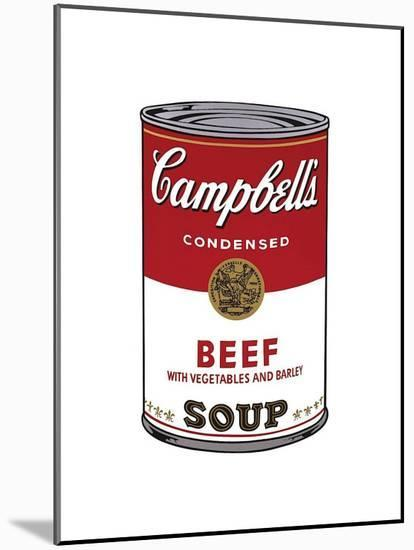Campbell's Soup I: Beef, c.1968-Andy Warhol-Mounted Giclee Print