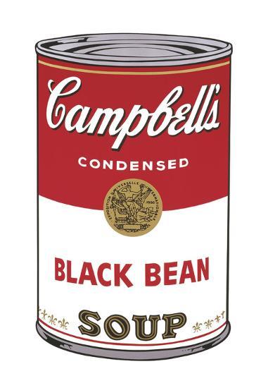 Campbell's Soup I: Black Bean, 1968-Andy Warhol-Art Print