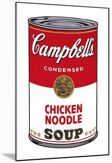 Campbell's Soup I: Chicken Noodle, c.1968-Andy Warhol-Mounted Art Print