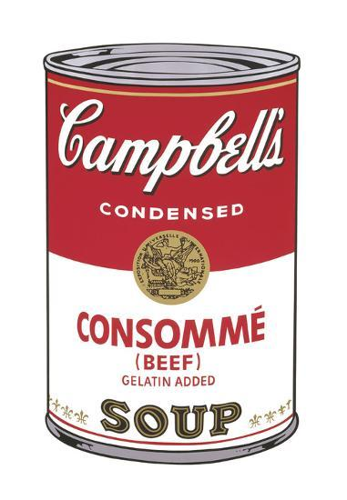 Campbell's Soup I: Consomme, 1968-Andy Warhol-Art Print