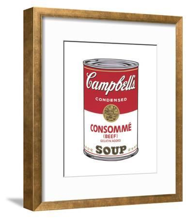 Campbell's Soup I: Consomme, 1968-Andy Warhol-Framed Art Print