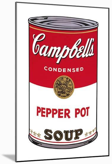 Campbell's Soup I: Pepper Pot, c.1968-Andy Warhol-Mounted Art Print