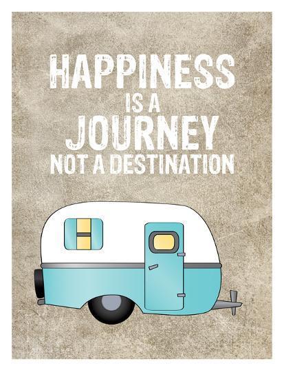 Camper Happiness Is Journey-Amy Brinkman-Art Print