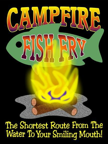 Campfire Fish Fry-Mark Frost-Giclee Print