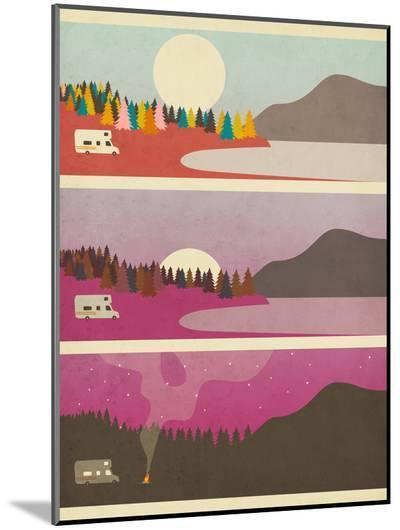 Campfire-Jazzberry Blue-Mounted Print