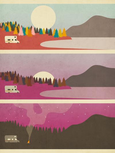 Campfire-Jazzberry Blue-Art Print