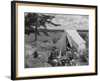 Campground--Framed Photo