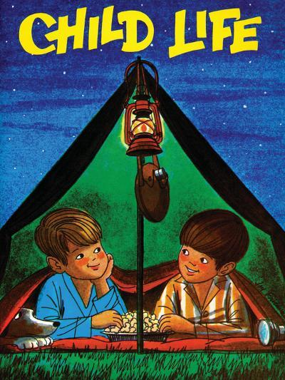 Camping - Child Life, August 1971-Joy Friedman-Giclee Print