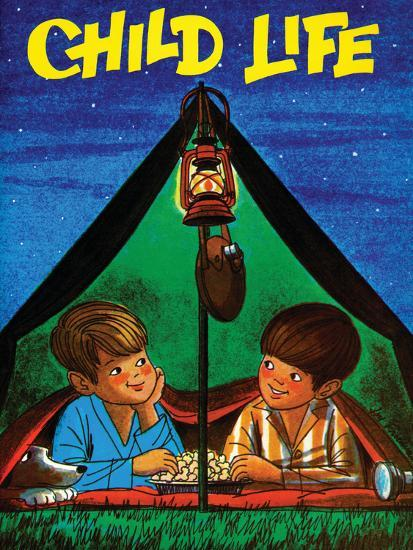 Camping - Child Life, August 1971-Joy Friedman-Giclee Print
