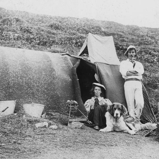 Camping, Early 20th Century--Photographic Print