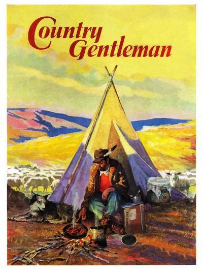 """""""Camping Near Sheep,"""" Country Gentleman Cover, October 1, 1940--Giclee Print"""