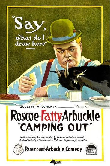 Camping Out, Roscoe 'Fatty' Arbuckle, 1919--Art Print