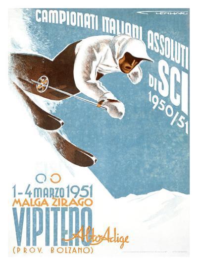 Campionati Italiani Assoluti di Sci--Giclee Print