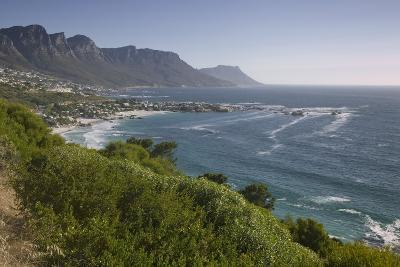 Camps Bay and Twelve Apostles Mountains--Photographic Print