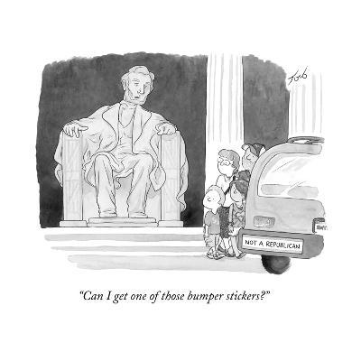 """Can I get one of those bumper stickers?"" - Cartoon-Tom Toro-Premium Giclee Print"