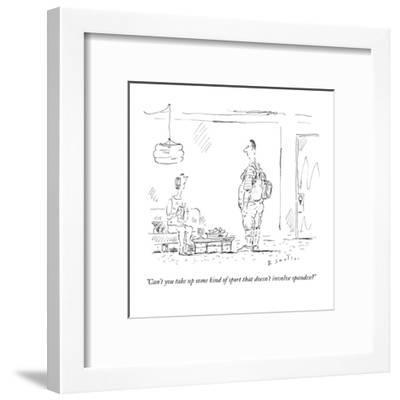 """""""Can't you take up some kind of sport that doesn't involve spandex?"""" - New Yorker Cartoon-Barbara Smaller-Framed Premium Giclee Print"""