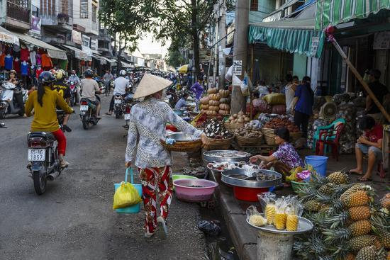 Can Tho Market, Mekong Delta, Vietnam, Indochina, Southeast Asia, Asia-Yadid Levy-Photographic Print