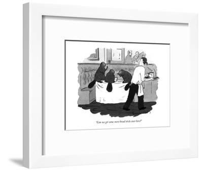"""Can we get some more bread sticks over here?"" - New Yorker Cartoon-Danny Shanahan-Framed Premium Giclee Print"
