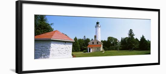 Cana Island Lighthouse, Baileys Harbor, Lake Michigan, Door County, Wisconsin, USA--Framed Photographic Print