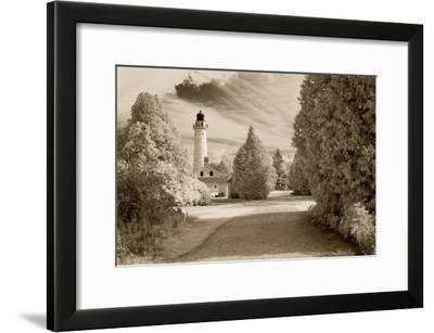 Cana Island Lighthouse, Door County, Wisconsin '12-Monte Nagler-Framed Photographic Print