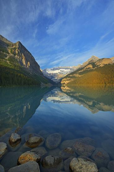 Canada, Alberta, Banff National Park. Lake Louise and Canadian Rocky Mountains.-Jaynes Gallery-Photographic Print