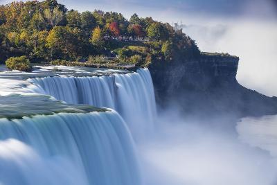 Canada and USA, Ontario and New York State, Niagara, Niagara Falls, the American and Canadian Falls-Jane Sweeney-Photographic Print