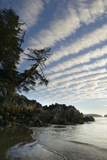 Canada, B.C, Vancouver Island. Clouds Above Tonquin Beach, Tofino-Kevin Oke-Photographic Print