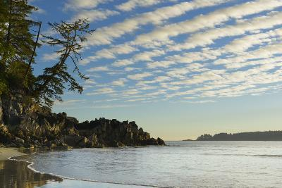 Canada, B.C, Vancouver Island. Clouds and Reflections on Tonquin Beach-Kevin Oke-Photographic Print