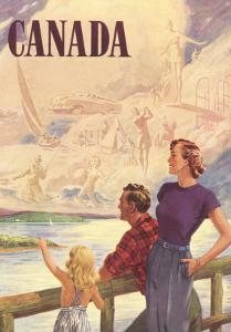 Canada, Family on Bridge