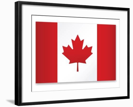 Canada Flag-ekler-Framed Art Print