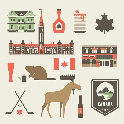 Canada Icons-vector pro-Art Print