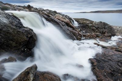 Canada, Nunavut, Territory, Hudson Bay, Blurred Image of Rushing River-Paul Souders-Photographic Print