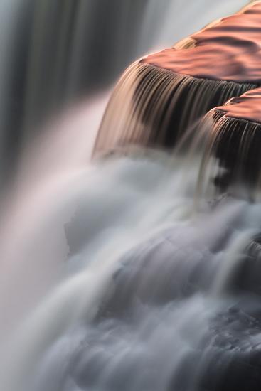 Canada, Ontario. Detail of Sunset Reflections on Kakabeka Falls-Judith Zimmerman-Photographic Print